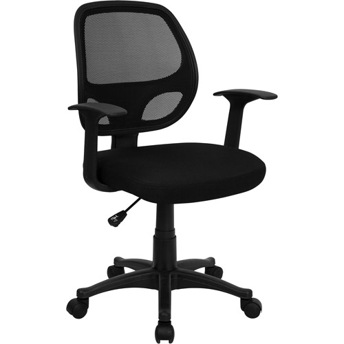 flash furniture mesh back computer chair, black - walmart