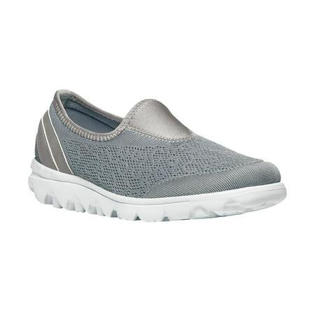 Propet TravelActiv Slip-On - Women's Flexible Comfort Shoe - Silver
