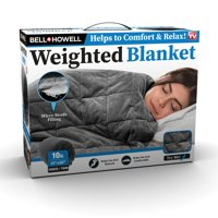 Bell + Howell Weighted Blanket with Glass Beads Filling for Calm Deep Sleep, As Seen on TV