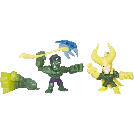 Marvel Super Hero Mashers Micro Hulk and Loki 2 Pack - Marvel Hulk Hands