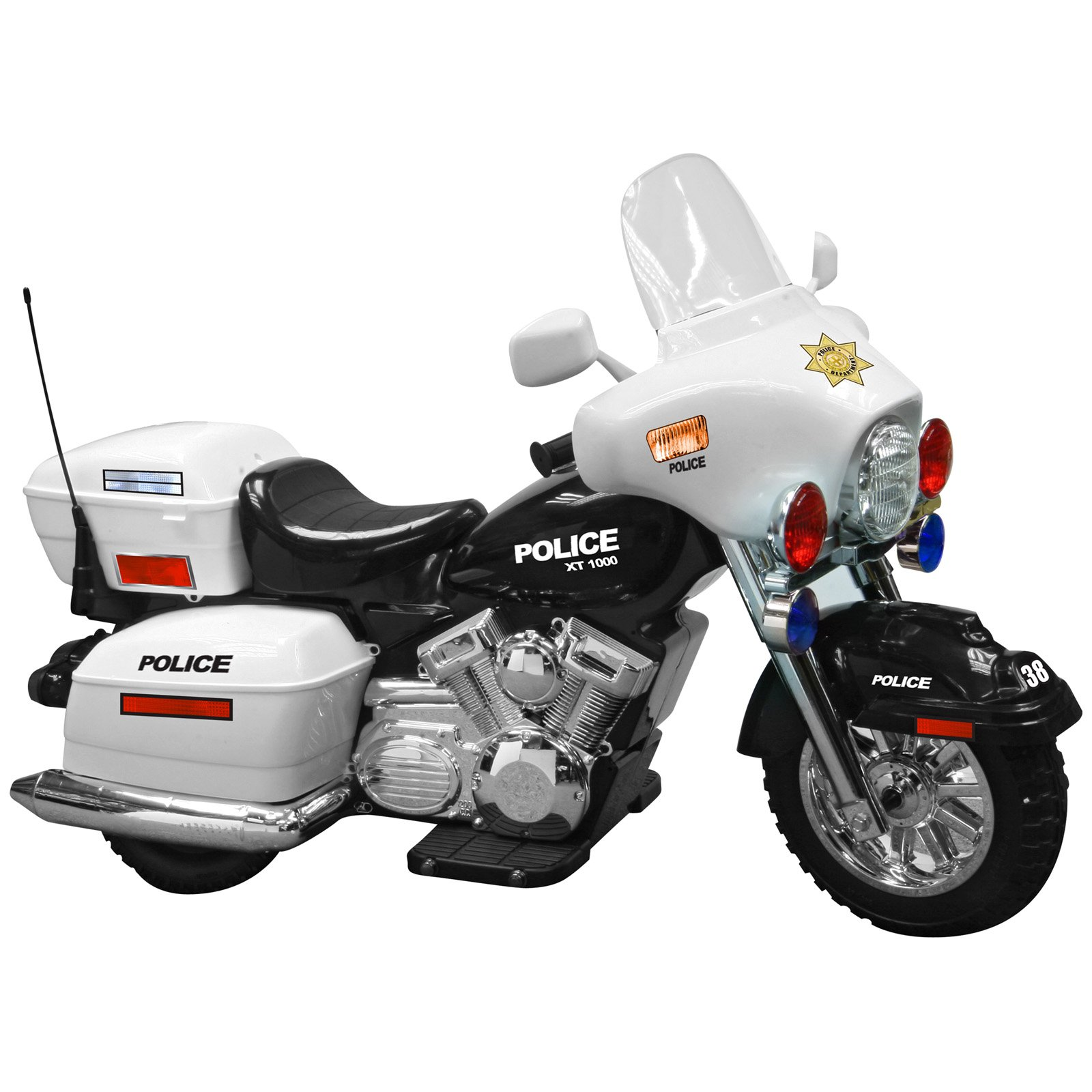 Kid Motorz Police Motorcycle Battery Powered Riding Toy Walmartcom