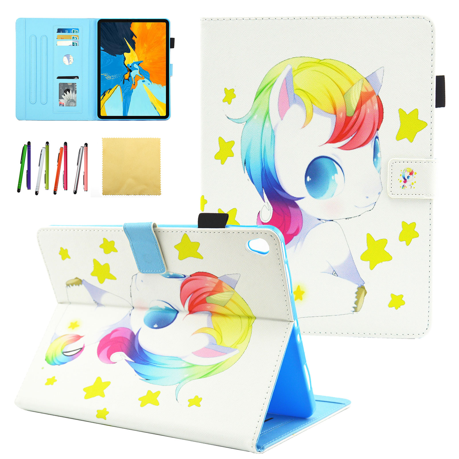 "iPad Pro 11 inch Case, Goodest Pretty Pattern Slim Fit PU Leather Smart Stand Case with Auto Wake/Sleep Compatible with iPad Pro 11"" 2018 Release Tablet, Unicorn Baby"