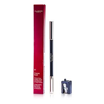 Long Lasting Eye Pencil with Brush - # 01 Carbon Black (With Sharpener) 0.037oz Clarins Eye Shimmer Pencil