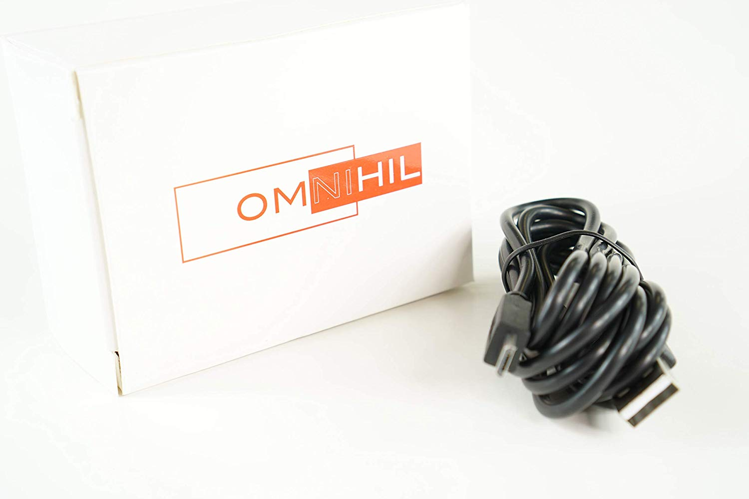 OMNIHIL White 8 Feet Long High Speed USB 2.0 Cable Compatible with GODEX DT4