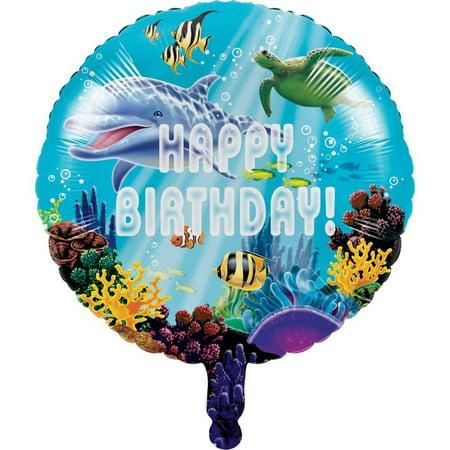 Creative Converting Ocean Party Metallic Balloon 18
