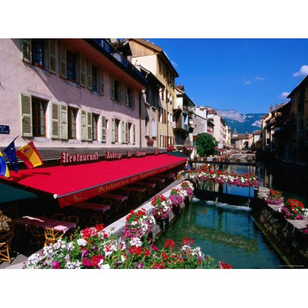 Thiou River Running through Town Centre, Annecy, Rhone-Alpes, France Print Wall Art By John Elk