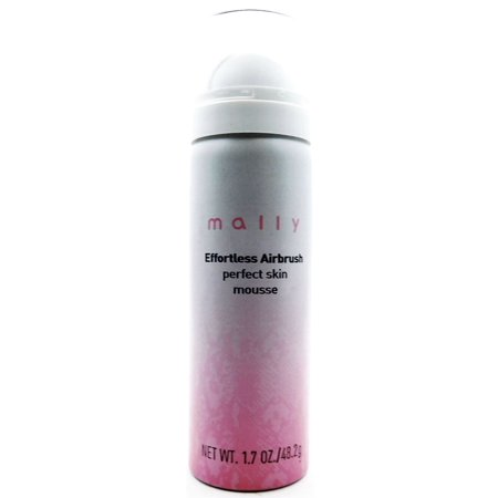 Mally Effortless Airbrush Perfect Skin Mousse medium-tan 1.7 Oz. (Perfecting Mousse)