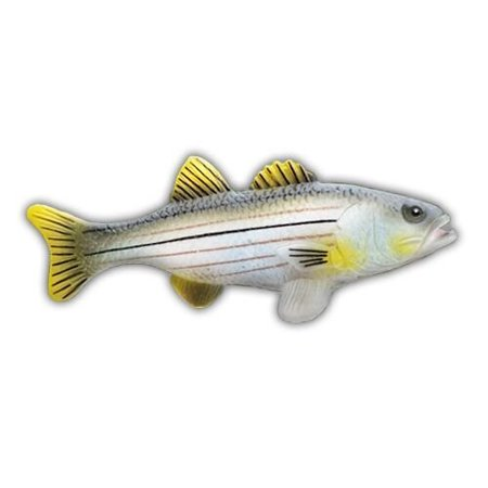 Striped Bass Fish Antenna Topper & Yellow Smiley Antenna Topper