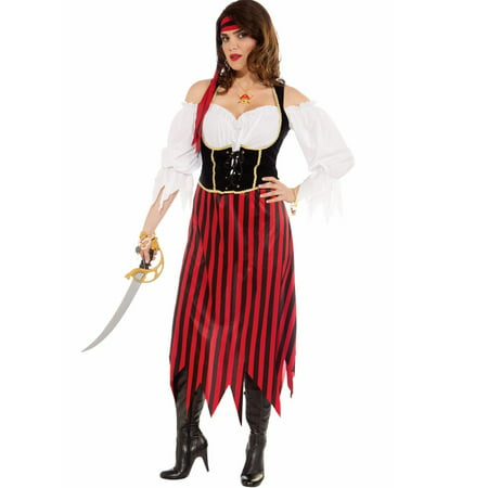 Womens pirate maiden plus size costume 1X - Women Pirate Costumes