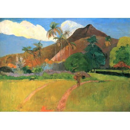 Framed Art for Your Wall Gauguin, Paul - Mountains in Tahiti 10 x 13 Frame