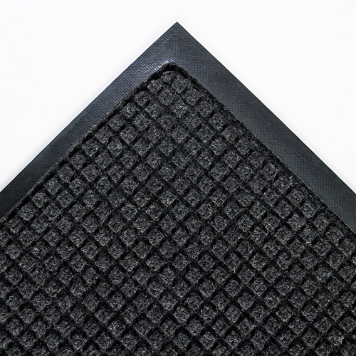 Crown Super-Soaker Polypropylene Wiper Mat With Gripper Bottom, 45 X 67, Charcoal
