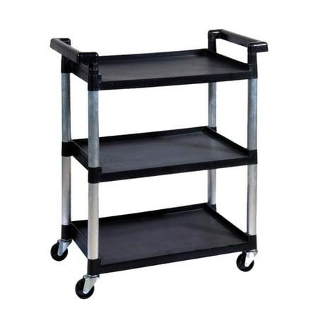 Trinity 3 Tier Utility Cart  Black