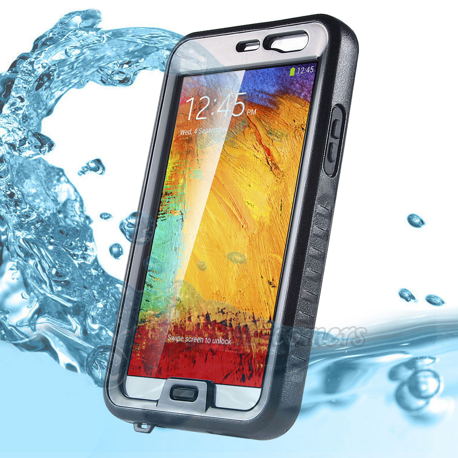 Note 3 Case, Galaxy Note 3 Waterproof Case - ULAK Galaxy Note 3 Dustproof Shockproof Hard Armor Protective Cover Case Case for Samsung Galaxy Note 3 Note iii N9000