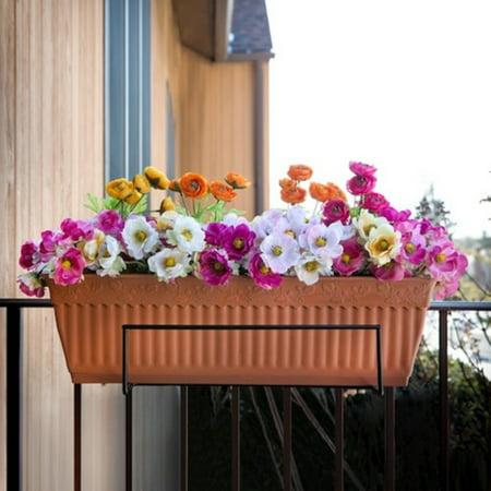 Sun Joe Deco Joe Flower Box Holder - -