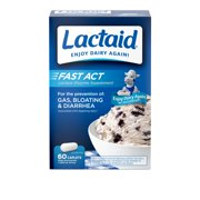 Lactaid Fast Act Lactose Intolerance Caplets, 60 Travel Packs of 1-ct.