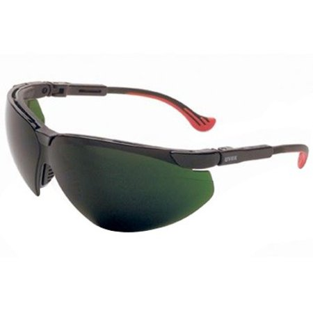 Uvex Shade (Uvex By Sperian Genesis XC Safety Glasses With Black Frame And Green And Shade 5 Polycarbonate Infra-Dura Ultra-dura Anti-Scratch Hard Coat Lens )