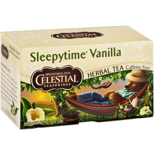 Celestial Seasonings Caffeine Free Herbal Tea Bags, Sleepytime Vanilla 20 ea (Pack of 3)