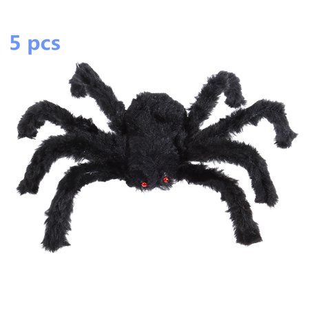 30 cm Black Large Spider Plush Toy Halloween Party Scary Decoration Haunted House Prop Indoor Outdoor Yard Decor