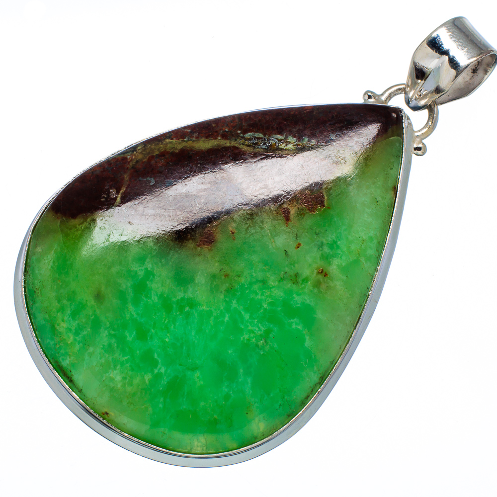 "Ana Silver Co Huge Boulder Chrysoprase 925 Sterling Silver Pendant 2 1 2"" PD573527 by Ana Silver Co."