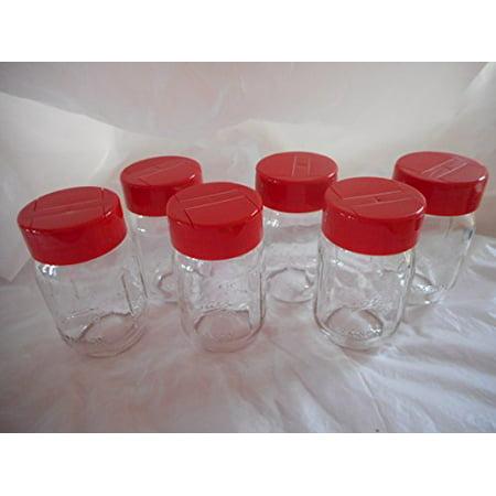 Mini Mason Jar Spice dispenser - Red 6 - Miniature Mason Jars