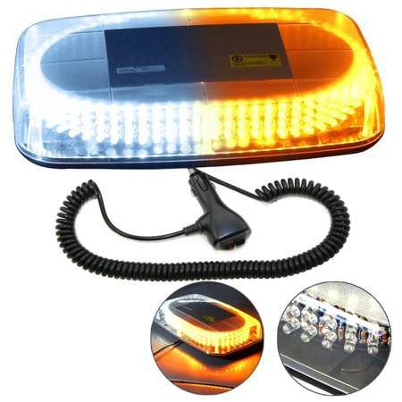 HQRP 240 LED Magentic Emergency Amber / White Strobe Mini Light Bar Tow / Plow Escort Safety for Truck Car Auto plus HQRP (Fitting A Towbar To A Smart Car)