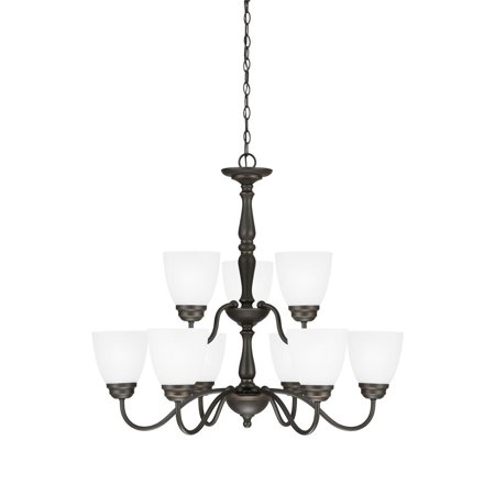 Sea Gull Lighting 3112409-191 Northbrook 9 Light Chandelier Roman Bronze Finish