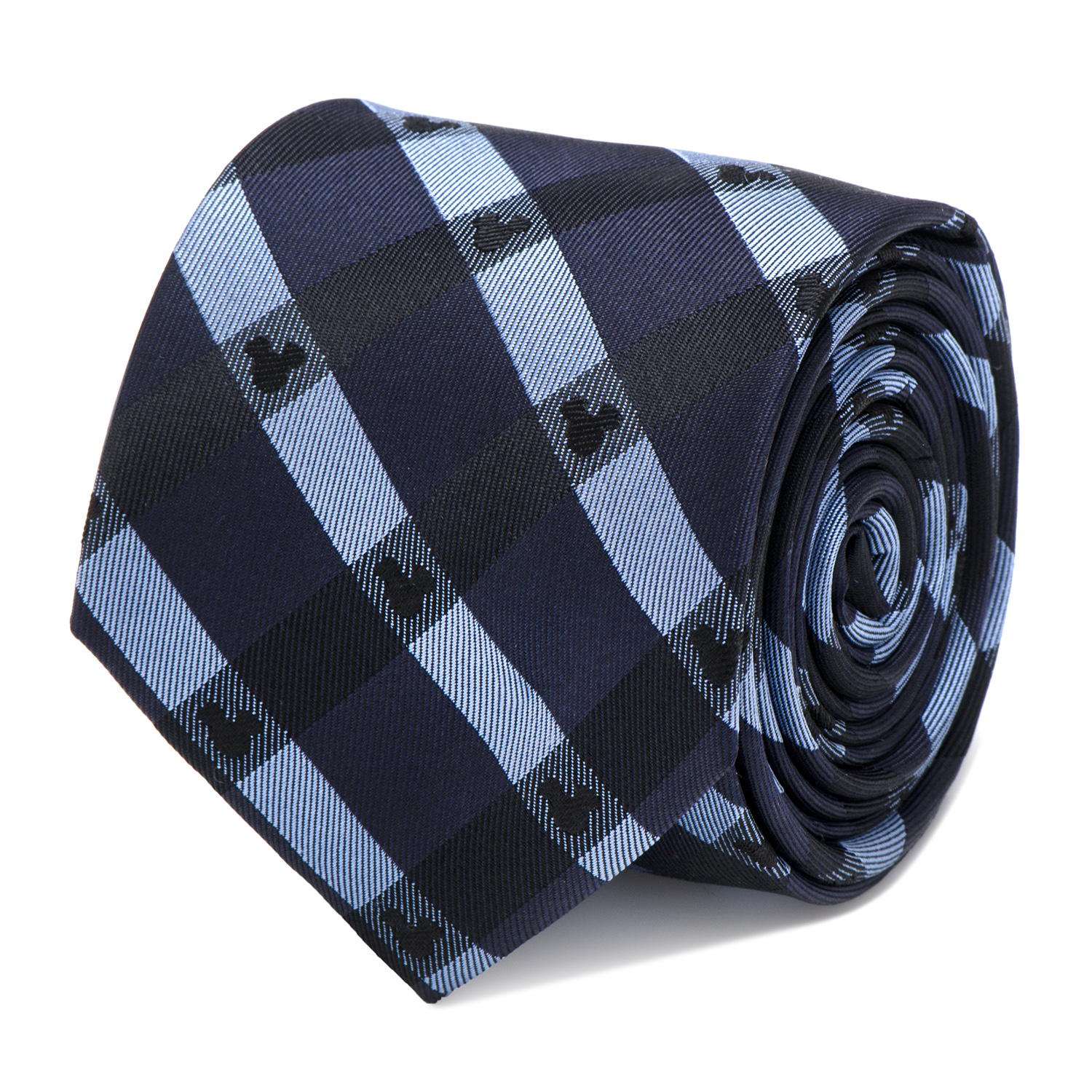 CUFFLINKS INC Mens Mickey Mouse Blue Plaid Tie (Blue) - Modern Jewelry Accessory