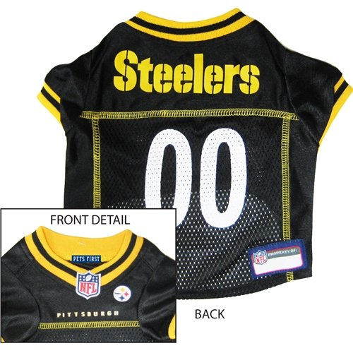 Pets First PSTJ-XS Pittsburgh Steelers NFL Dog Jersey - Extra Small
