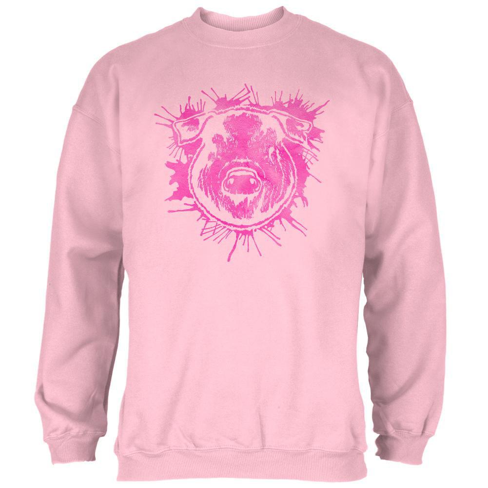Piggy Pretty in Pink Mens Sweatshirt
