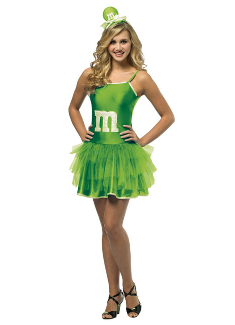 M&M Sassy Green Mini Tutu Teen Dress Up Girls Costume Teen by Rasta Imposta