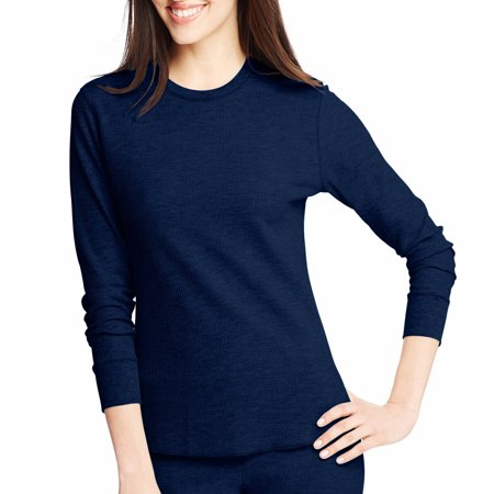 hanes x-temp women's thermal printed crew - best-seller, 25452, (Best Lightweight Thermal Underwear)
