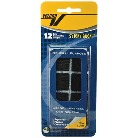 - Velcro Tape, 7/8in Squares, 12/Pkg., Black