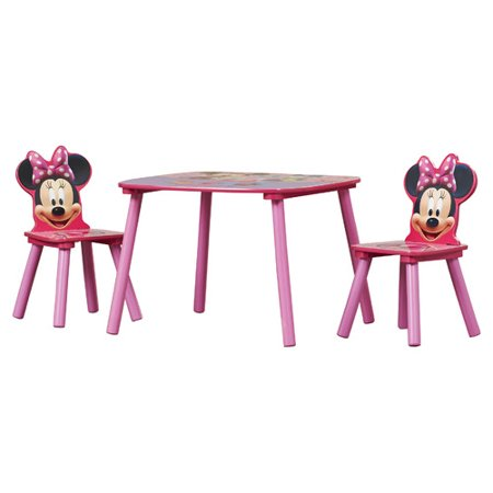 Disney Minnie Mouse Activity Table And Chairs Set
