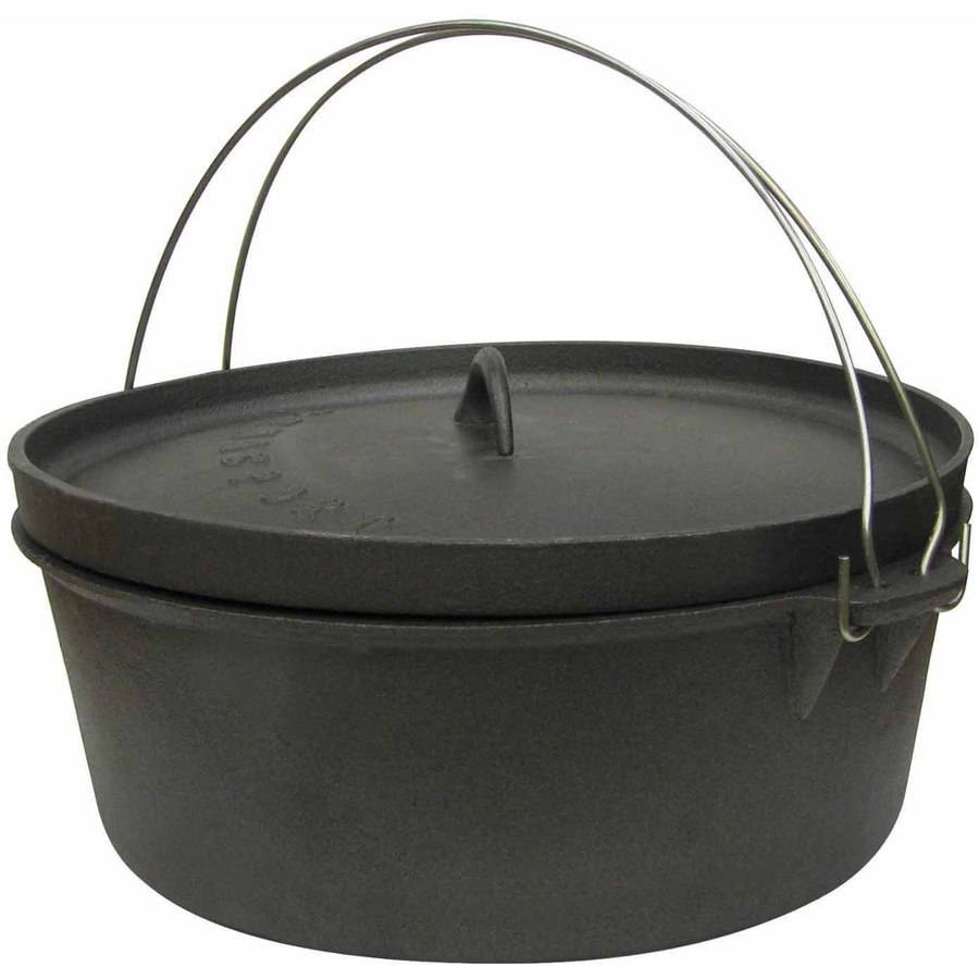 Stansport Cast Iron 2-Quart Dutch Oven, without Legs