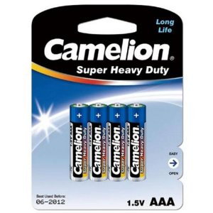 Camelion AAA Size Super Heavy Duty Batteries 48 Pack - Retail Carded + Free Shipping