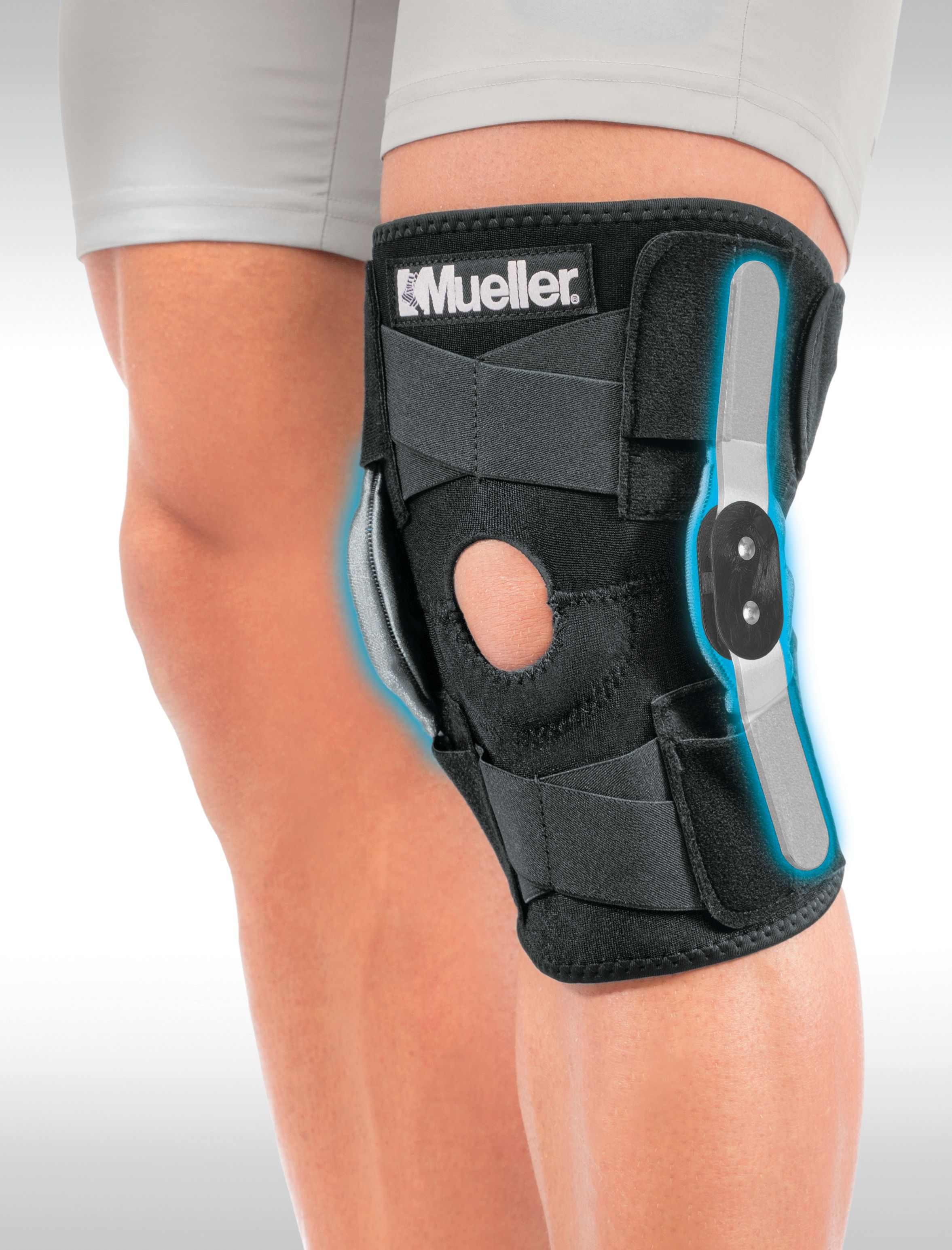d4cccb1cee Mueller Adjustable Hinged Knee Brace, Black, One Size Fits Most -  Walmart.com