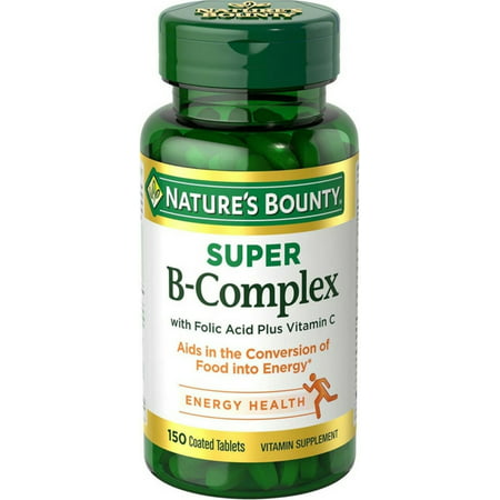 Nature's Bounty B-Complex with Folic Acid plus Vitamin C, Tablets,
