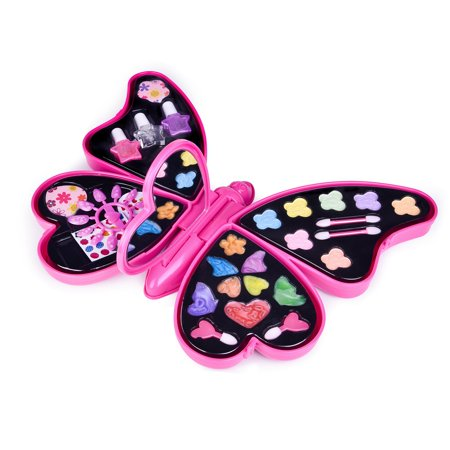 Girls Toys Butterfly Case Pretend Play Toy Make Up Case Kit for Little Girls,Nail Polish,Party Favor Birthday Gift for kids (Cool Toys For Kids 12 And Up)