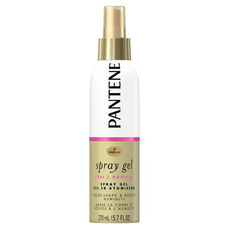 Thickening Spray Gel (Pantene Pro-V Curl Spray Gel to Hold Shape & Resist Humidity, 5.7 fl oz )