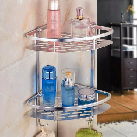 Aluminum Corner Insert (Aluminium Wall Mounted Shower Corner Shelf Storage Shelf Shelves Bathroom Cloth Holder Rack Basket )