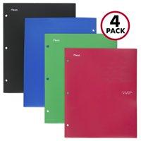 Five Star 4-Pocket Plastic Folder, Assorted Colors, 4 Pack (38083)