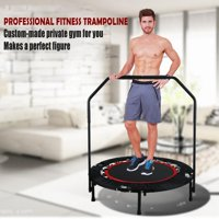 "Fitness Trampoline 40"" Mini Foldable Re-bounder Trampoline with Adjustable Handrail LEANO"