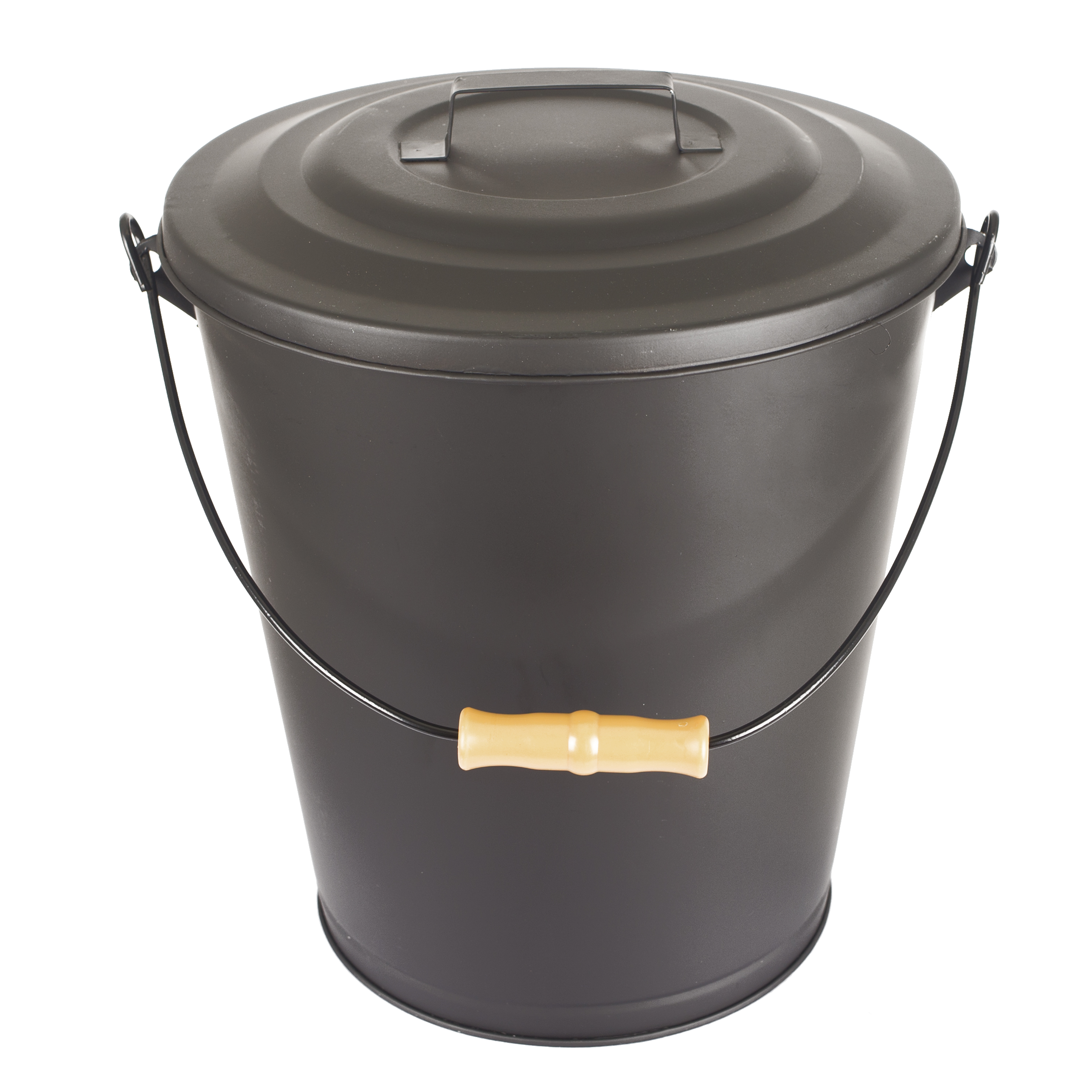 GHP Fireplace /& Wood Stove Hearth Ash Black Bucket with Lid and Handle  614 New