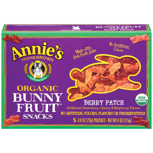 Annie's Homegrown Organic Bunny Berry Patch Fruit Snacks, 5ct
