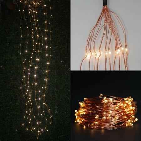 Efavormart 200 LED Battery Operated Fibre Optics String Backdrop Fairy Light For Wedding Party Event Decor