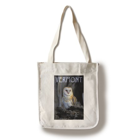 Vermont - Barn Owl - Lantern Press Photography (100% Cotton Tote Bag - Reusable)