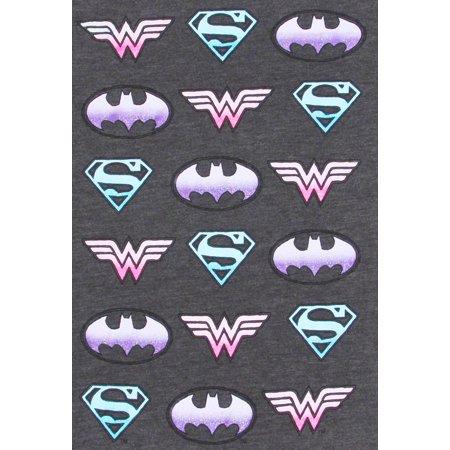 ac501cb05 DC Superhero Girls T-Shirt Supergirl Batgirl Wonder Woman Gray - image 1 of  2 ...