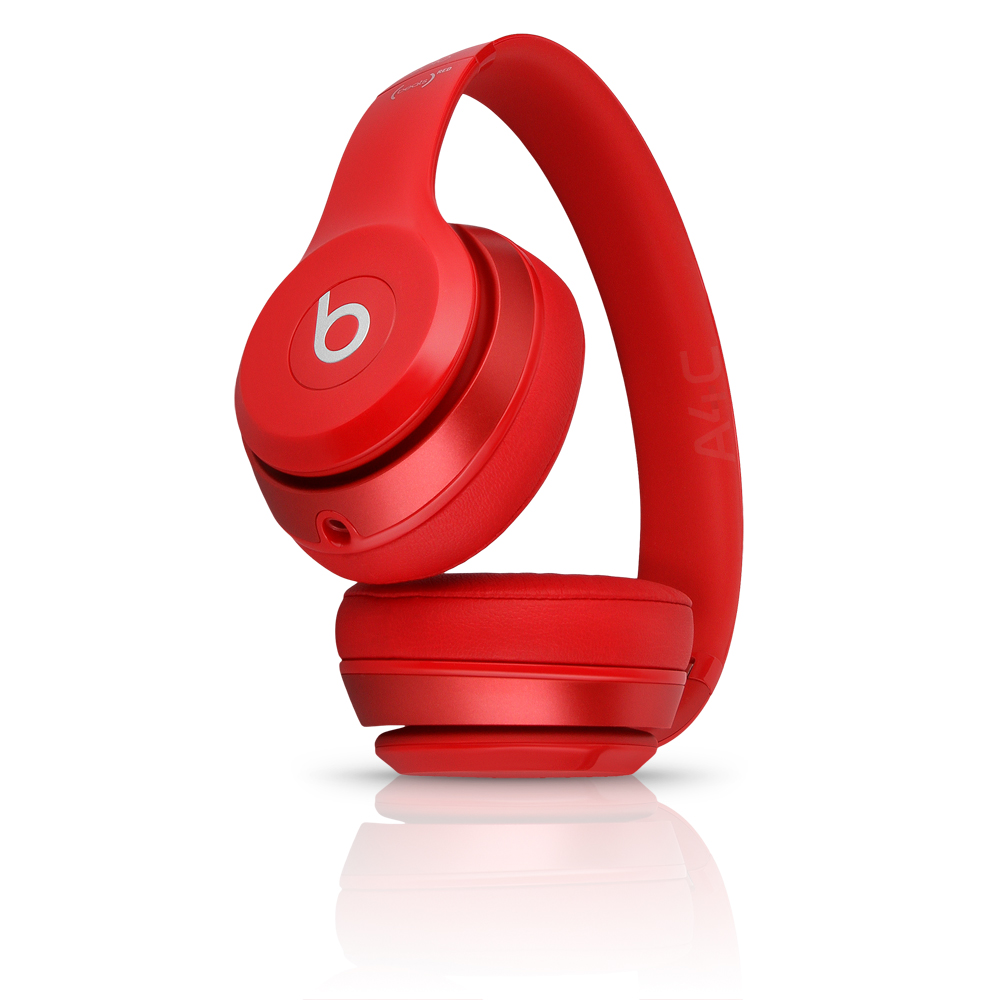 (Refurbished) Beats Solo 2 Wired On-Ear Headphone (MH8Y2AM/A) Red