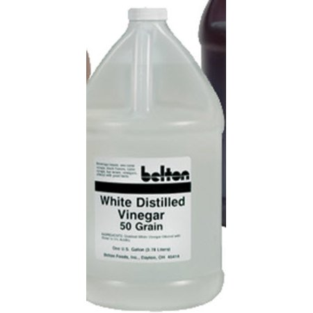 - Belton White Vinegar Liquid  50 grain, 1 Gallon Jug, Vinegar Scent, Case of 4