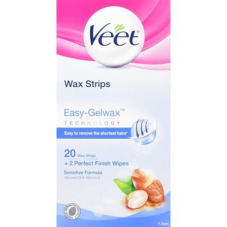 Veet, Wax Strips with Easy Gelwax, Hair Removal, Remove the Shortest Hairs, Sensitive Formula, Legs & Body, 20 Count - image 6 of 6